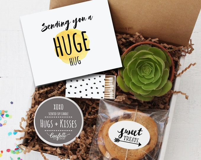 Sending You A Huge Hug Gift Box -  Miss You Gift | Long Distance Friendship Gift | Sympathy Gift | Besties Gift | College Care Package