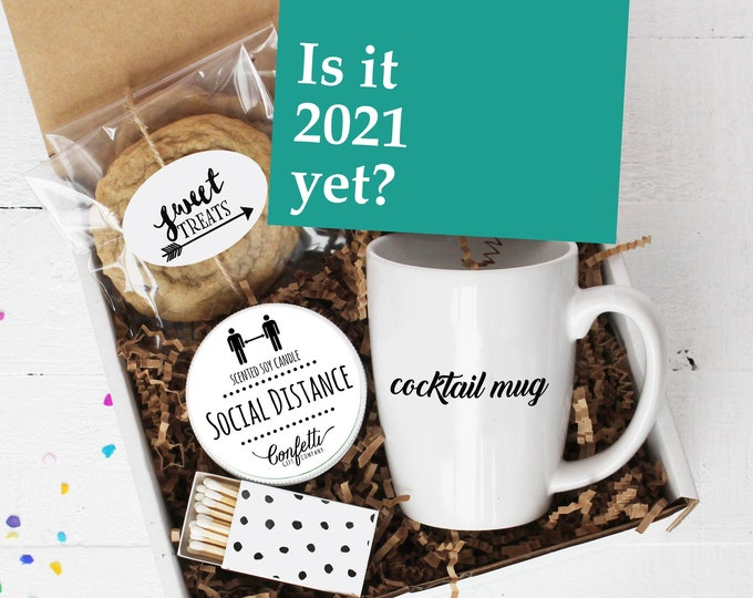 Is It 2021 Yet? Mug Gift Box -  2020 Sucks | Coronavirus Gift | Pandemic Gift | Quarantine Gift | Social Distance Gift | Cocktail Mug