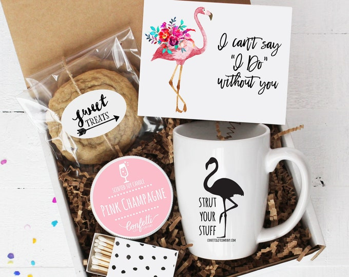 I Can't Say I Do Without You Gift Box | Bridesmaid Gift | Flower Girl Gift | Maid of Honor Gift | Bridal Party Proposal Gift | Flamingo Gift