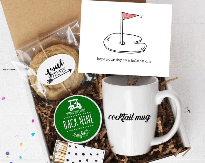 Hope Your Day Is A Hole In One Gift Box - Golf |  Father's Day Gift | Birthday Gift  | Men's Birthday | Gift For Golfer | Gift For Dad
