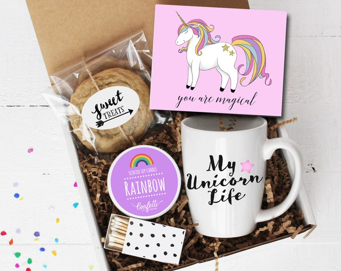 You Are Magical Gift Box - Unicorn Gift | My Unicorn Life | Valentine's Day Gift | Gift For Her |Rainbow Candle | BFF | Thinking of You |