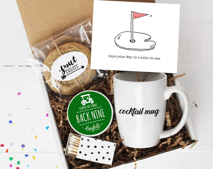 Hope Your Day Is A Hole In One Gift Box - Golf |  Father's Day Gift | Birthday Gift  | Appreciation Gift | Gift For Golfer | Gift For Dad