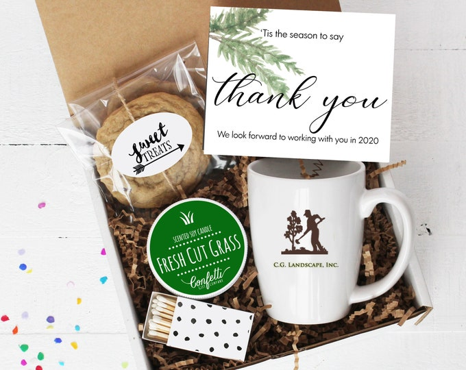 Custom Corporate Holiday Gift Box - Set of 36 | Corporate Holiday Thank You Gift | Custom Corporate Card | Thank You For Your Business