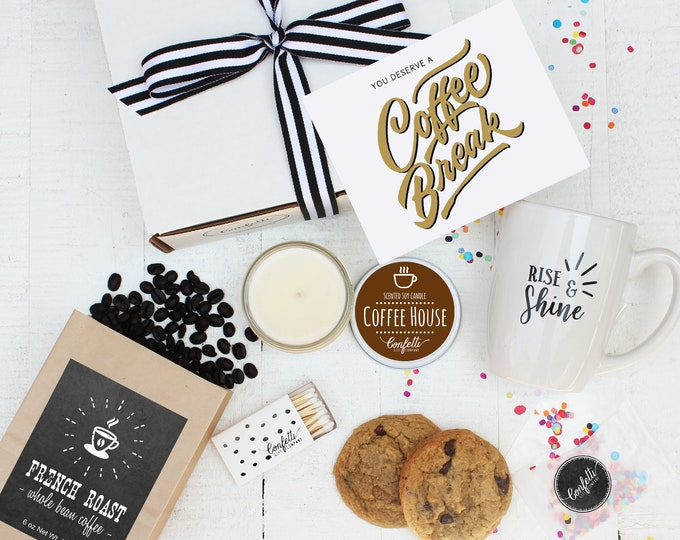 Coffee Gift Set - You Deserve a Coffee Break | Thank You Gift | Appreciation Gift | Coffee Lovers Gift | Sympathy Gift | Corporate Gift