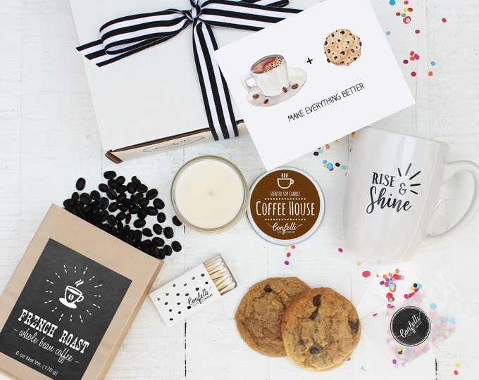 Coffee Gift Set - Coffee and Cookies Make Everything Better | Get Well Gift | Condolence Gift | Coffee Lovers Gift | Sympathy Gift| Cheer Up