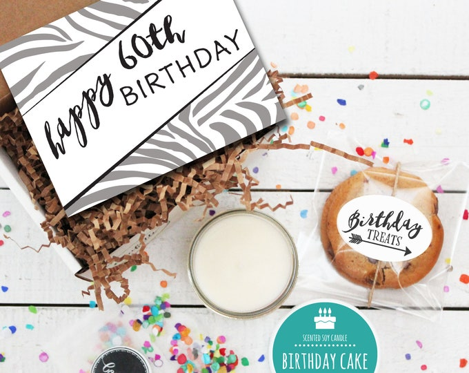 Mini Happy 60th Birthday Gift Box - Milestone Birthday | Send a Birthday Gift | Birthday in a Box | Friend Gift | 60th Birthday Card