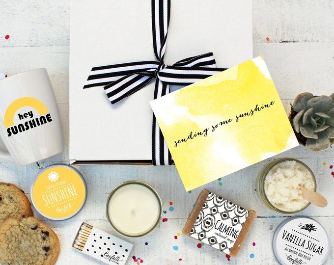 Box of Sunshine - Build Your Own Gift Box | Get Well Gift | Thank You Gift | Condolence Gift | Send a Gift | Gift Ideas for her |Send a card