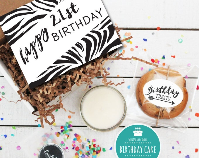 Mini Happy 21st Birthday Gift Box - Send a Birthday Gift | Birthday in a Box | Friend Gift | Coworker Gift | 21st Birthday Card