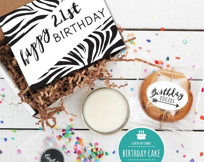 Mini Happy 21st Birthday Gift Box - Send a Birthday Gift | Birthday in a Box | Friend Gift | Coworker Gift | 21st Birthday Card