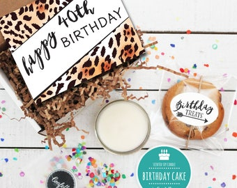 Mini Happy 40th Birthday Gift Box - Milestone Birthday | Send a Birthday Gift | Birthday in a Box | Coworker Gift | 40th Birthday Card