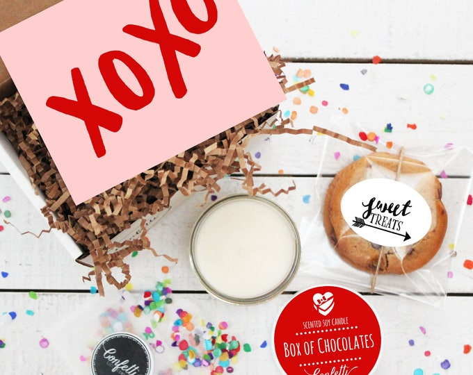 Mini XOXO Gift Box - Valentine's Day Gift | Boyfriend Gift | Best Friend Gift | Gift For Her | Galentine's Day | Girlfriend Gift |