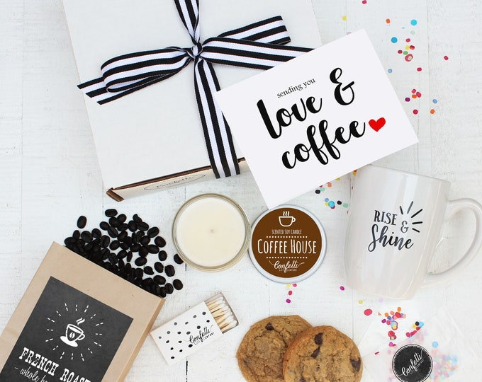 Coffee Gift Set - Sending You Love and Coffee | Get Well Gift | Thank You Gift | Condolence Gift | Coffee Lovers Gift | Sympathy Gift