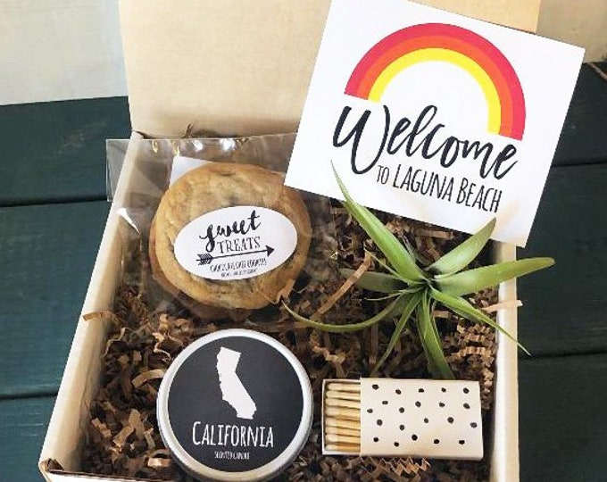 Custom Welcome Box | Corporate Event Welcome Box | Wedding Welcome Box | Out of Town Guest Box | Destination Wedding Box - Set of 6
