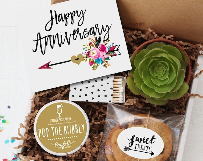 Happy Anniversary Gift Box - Congratulations Gift | Anniversary Gift | Celebration Gift | Couple Gift | Anniversary Card | Gift For Parents