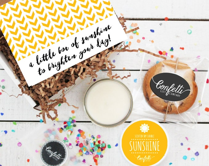 Mini Box of Sunshine -  Get Well Gift | Thank You Gift | Friend Gift | Send a Gift | Thinking of You Gift