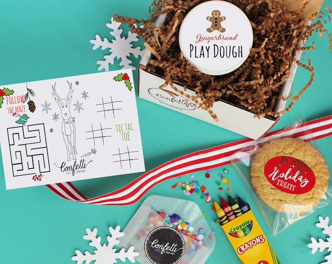 Kids Holiday Box - Send a Gift | Kids Christmas Gift | Holiday Activity Box | Gift under 25 | Stocking Stuffer | Holiday Table | Unique Gift