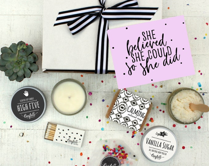 She Believed She Could - Spa Gift Box | Women's Empowerment Gift | Graduation Gift | Promotion Gift | Girl Boss Gift | Spa Gift Set | Pamper