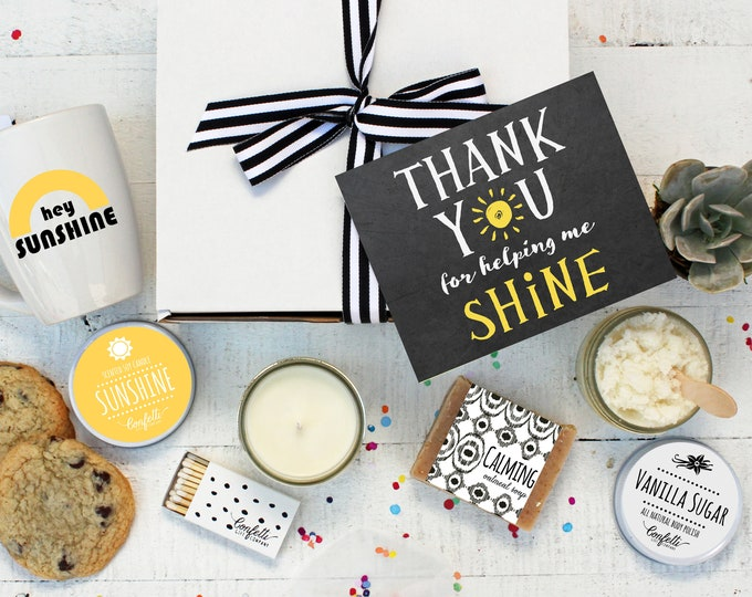 Thank You for Helping Me Shine - The Works Teacher Gift Box | Thank You Gift | End of Year Gift | Teacher Aide | Teacher Appreciation Gift