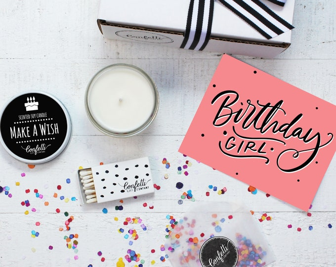 Birthday Candle | Birthday Girl Gift Box | Birthday Gift | Birthday Gift For Her | Send A Candle | Make A Wish Candle | 20 Dollar Gift