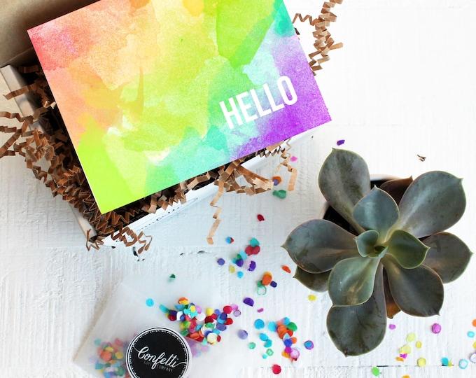 Mini Hello Gift Box - Thinking of You Gift | Thank You Gift | Friend Gift | Miss You Gift | Get Well Gift