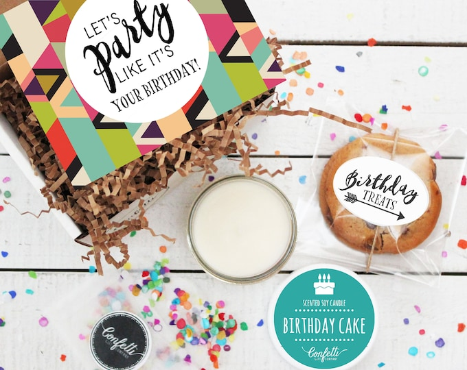 Mini Let's Party Like It's Your Birthday Gift Box - Birthday Gift | Long Distance Birthday Gift | BFF Birthday Gift | Birthday Card