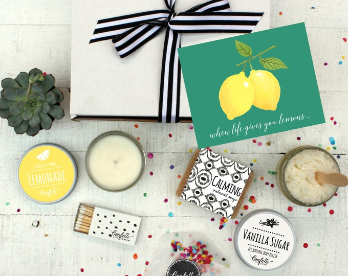 When Life Gives You Lemons- Spa Gift Set | Get Well Gift | Condolence Gift | Send a Gift | Gift for her | Sympathy Gift | Send a card