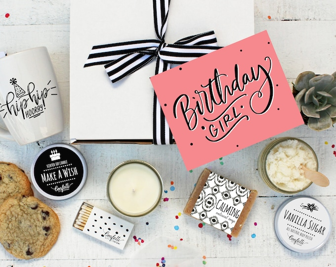Birthday Girl Gift Box - The Works | Birthday Gift for Her |  Spa Gift Set | Birthday Gift for friend | Best Friend | Birthday Gift Sister
