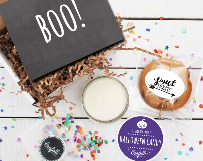 Mini BOO Halloween Gift Box - Send a Halloween Gift | Halloween Treat | Halloween Card | Halloween Candle | Halloween Cookies