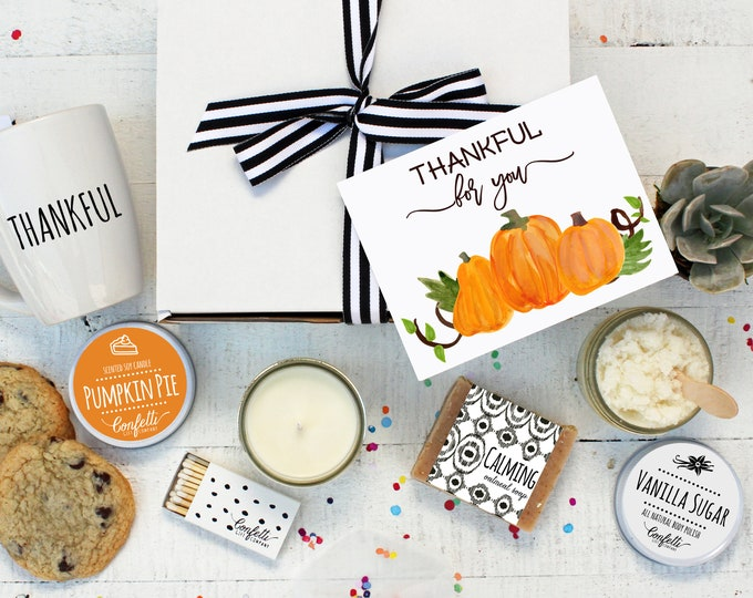 Thankful For You The Works Gift Box | Thanksgiving Gift | Thanksgiving Hostess Gift | Fall Gift | Thank You Gift