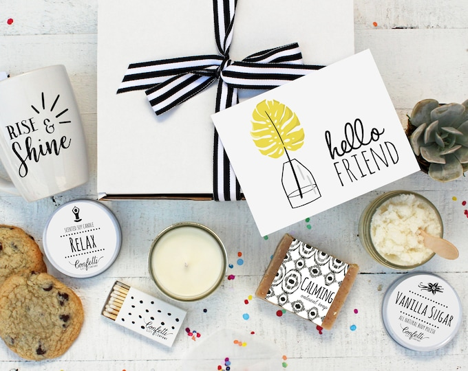 Hello Friend - The Works | Spa Gift Set | Friend Gift  | Coworker gift | Thinking of You Gift | Gift for friend | Best Friend | Spa Gift Box