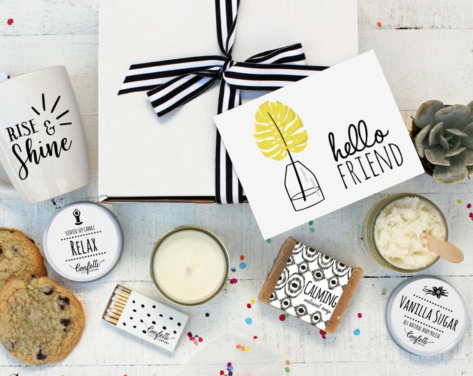 Hello Friend - The Works | Spa Gift Set | Friend Gift  | Coworker gift | Thinking of You Gift | Gift for friend | Best Friend |Spa Gift Set