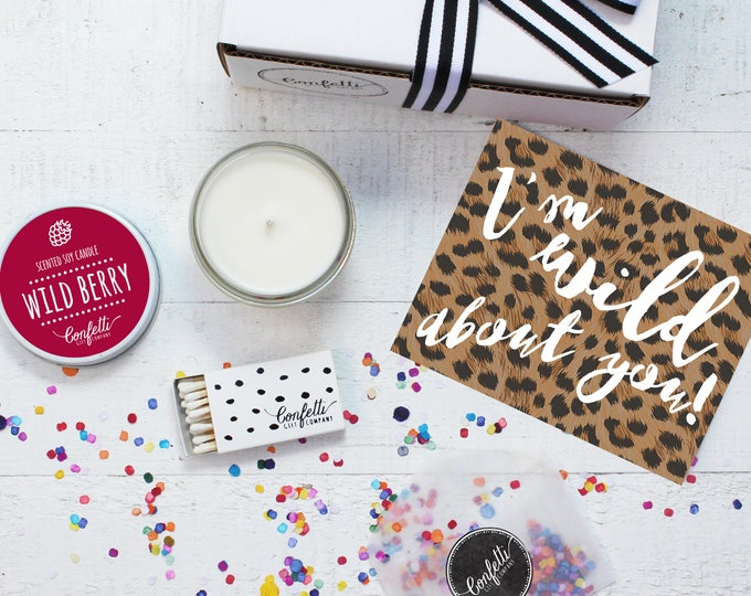Wild About You Gift Box - I'm Wild About You | Girlfriend Gift | Boyfriend Gift | Gift For Her | 20 Dollar Gift | Send A Candle