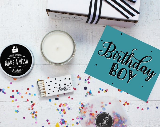 Birthday Candle | Birthday Boy Gift Box | Birthday Gift | Birthday Gift For Him | Send A Candle | Make A Wish Candle | 20 Dollar Gift