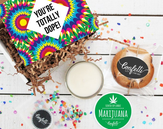 Mini You're Totally Dope Gift Box | Father's Day Gift | Gift For Dad | Dad Appreciation Gift | Gift For Him | Marijuana Candle | Cookie