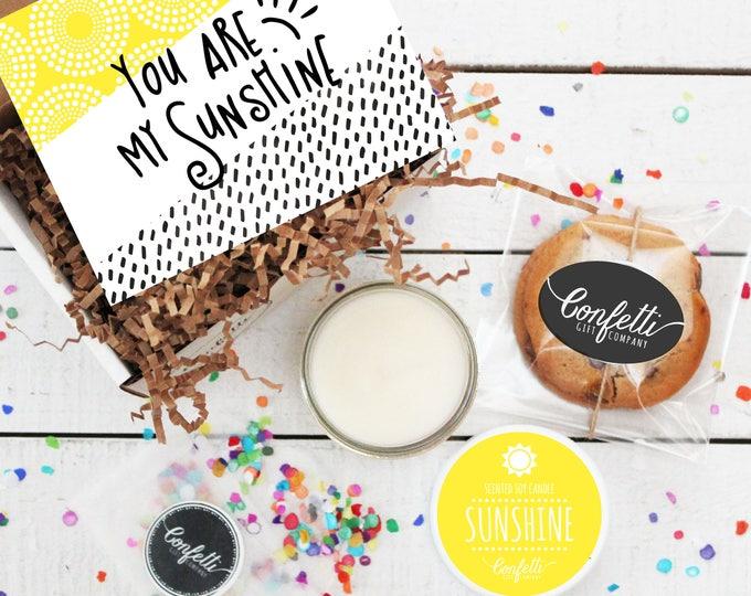 Mini You Are My Sunshine Gift Box - Thinking of You Gift | Thank You Gift | Friend Gift | Send a Gift | Get Well Gift |