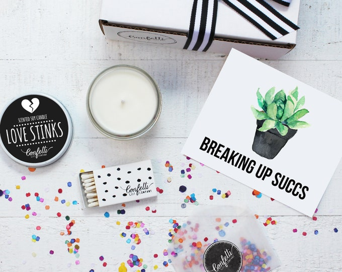 Breaking Up Succs  Gift - Send A Candle |  Break Up Gift  | Best Friend Gift | Divorce Gift | Break Up Card | Breaking Up Sucks