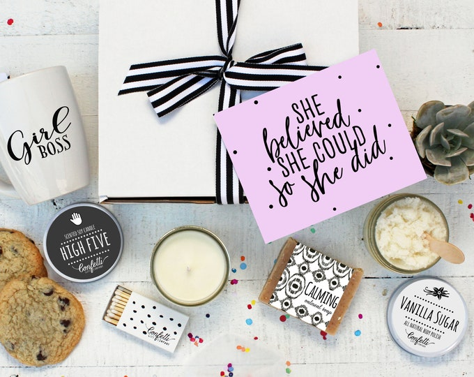 She Believed She Could - The Works | Congratulations Gift Box | Women's Empowerment Gift | Graduation Gift | Promotion Gift | Girl Boss Gift