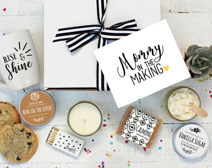 Mommy in the Making - The Works | Pregnancy Gift | New Mom Spa Box | Expecting Mom Gift | Baby Shower Gift | Spa Gift Set | Pamper Gift
