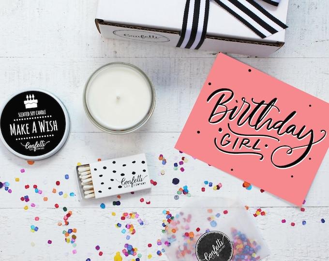 Birthday Candle | Birthday Girl Gift Box | Birthday Gift | Birthday Gift For Her | Send A Candle | Make A Wish Candle | 20 Dollar Gift