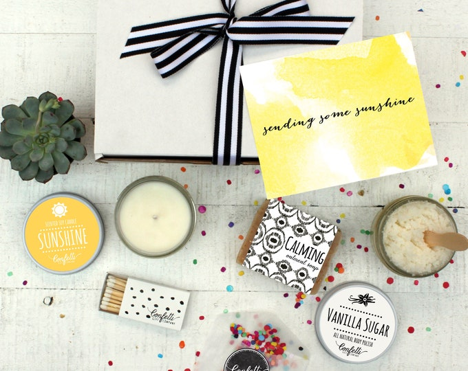 Box of Sunshine - Spa Gift Set | Think of You Gift | Get Well Gift | Condolence Gift | Send a Gift | Gift for her | Sympathy Gift