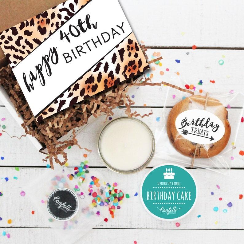 Mini Happy 40th Birthday Gift Box Milestone Send