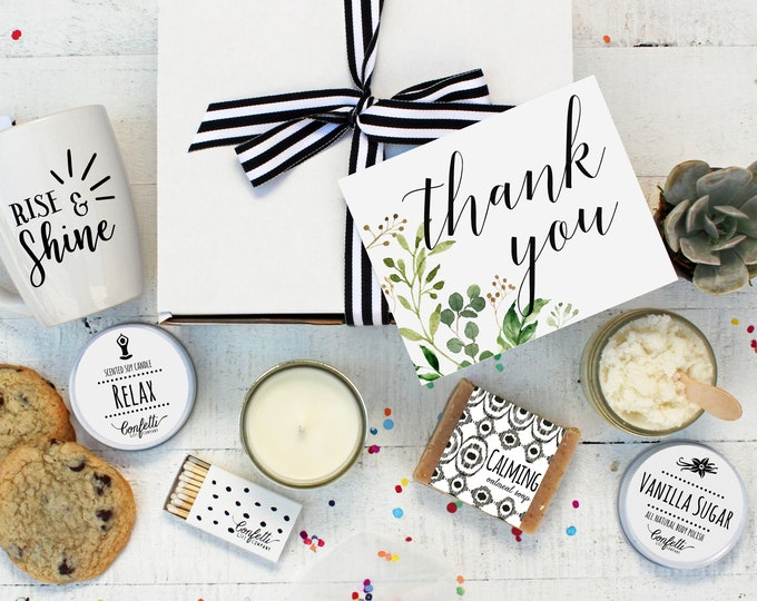 Botanical Thank You - The Works | Thank You Gift | Appreciation Gift | Friend Gift | Spa Gift Box | Send A Card | Spa Gift Set |Gift for Her