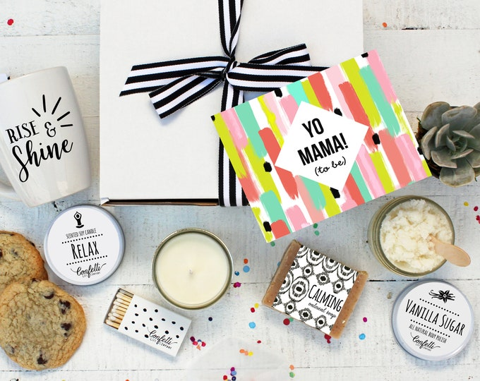 Yo Mama To Be  - The Works   Pregnancy Gift   New Mom Spa Box   Expecting Mom Gift   Friend Gift   Baby Shower Gift   Spa Gift Set   Pamper