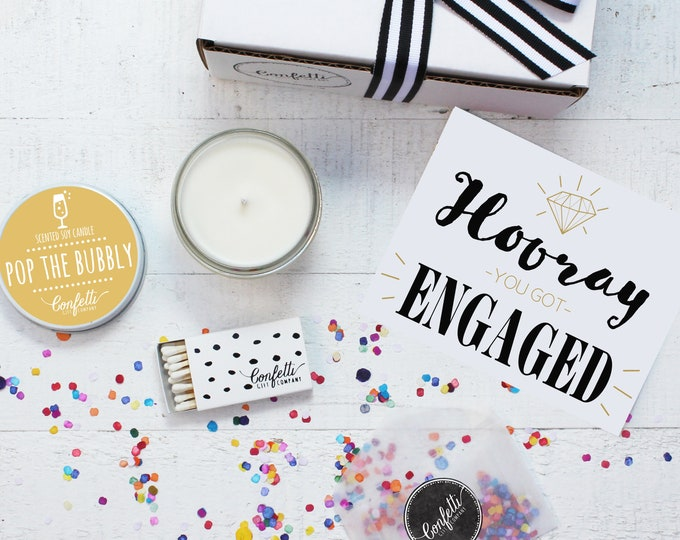 Engagement Gift Box - Hooray You Got Engaged Gift | Engagement Gift for Couple | Engaged Gift | 20 Dollar Gift | Engagement Party Gift