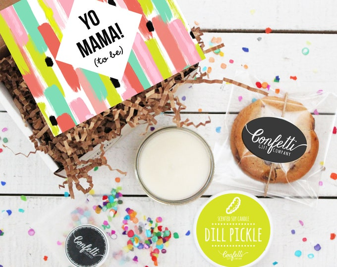 Mini Yo Mama To Be Gift Box -  Pregnancy Gift   Expecting A Baby Gift   Friend Pregnancy Gift   Sister Pregnancy Gift   Mom To Be Gift