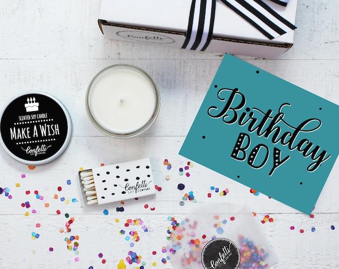 Birthday Candle | Birthday Boy Gift Box | Birthday Gift | Birthday Gift For Him | Send A Candle | Make A Wish Candle | 20 Dollar Gift