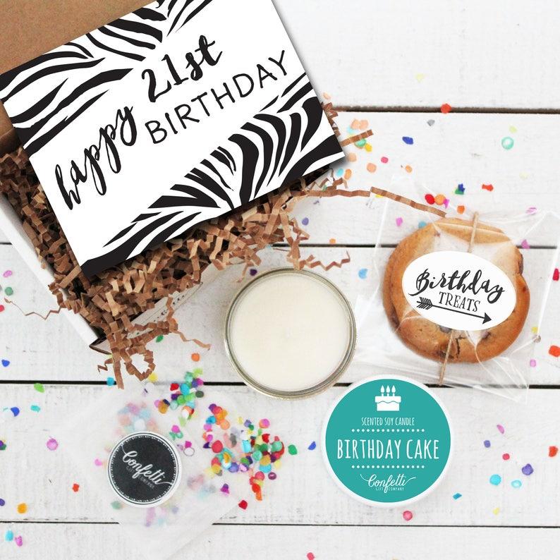 Mini Happy 21st Birthday Gift Box