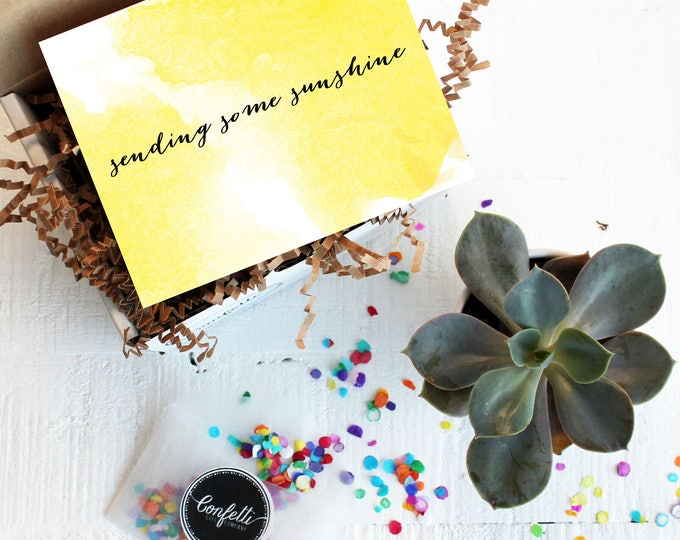 Mini Sending Some Sunshine Gift Box- Get Well Gift   Thank You Gift   Friend Gift   Box of Sunshine   Send a Gift   Thinking of You Gift