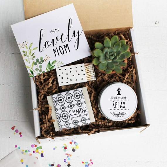 For My Lovely Mom Gift Box Mother S Day Gift Box Spa Gift Box Gift For Mom Succulent Gift Set Candle Gift Set Soap Gift Set