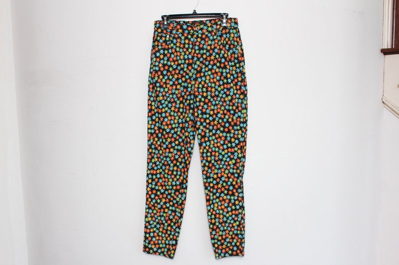 6088713ac7 Vtg 90s Route 66 Flower Power Spice Girls Clueless Cute High Waist Pants M